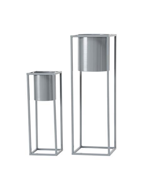 Übertopf-Set Centro aus Metall, 2-tlg., Metall, Grau, Sondergrößen
