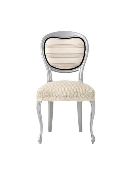 Fundas para asiento Cora, 2 uds., 55% poliéster, 30% algodón, 15% elastomero, Beige, An 50 x L 50 cm