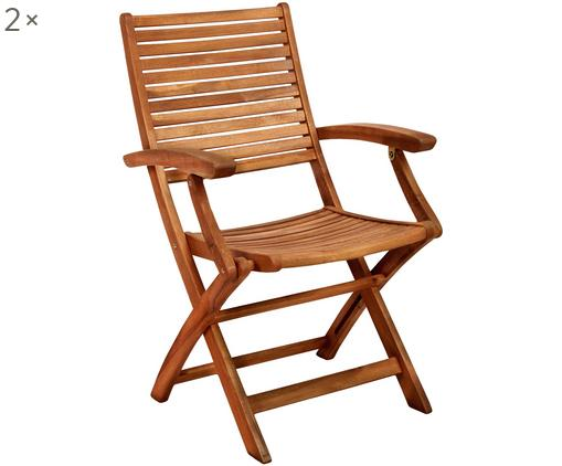 Krzesło składane Somerset, 2 szt., Drewno akacjowe, olejowane, Drewno akacjowe, S 54 x G 63 cm