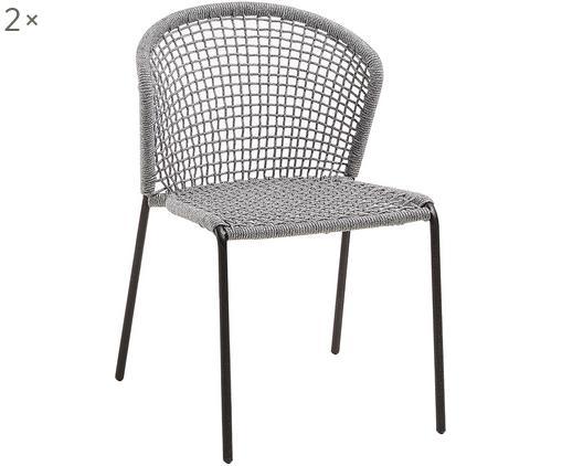 Krzesło ogrodowe Mathias, 2 szt., Szary
