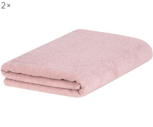 Asciugamano per ospiti Comfort, 2 pz., 100% cotone, qualità media 450 g/m², Rosa cipria, Larg. 30 x Lung. 50 cm