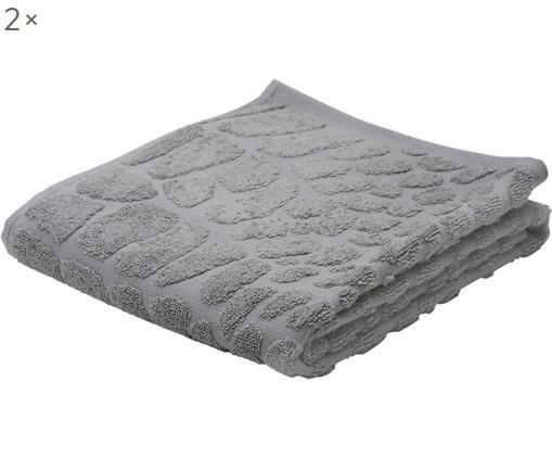 Asciugamano Safari, 2 pz., Cotone, qualità media 550g/m², Grigio argento, Larg. 50 x Lung. 100 cm