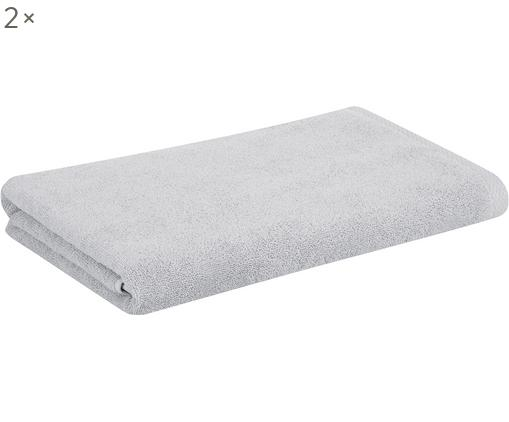 Asciugamano Comfort, 2 pz., 100% cotone, qualità media 450g/m², Grigio chiaro, P 50 x L 100 cm