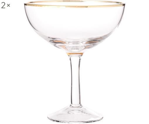 Flute champagne in vetro soffiato Coppa 2 pz, Vetro soffiato a bocca, Trasparente, Ø 10 x Alt. 12 cm