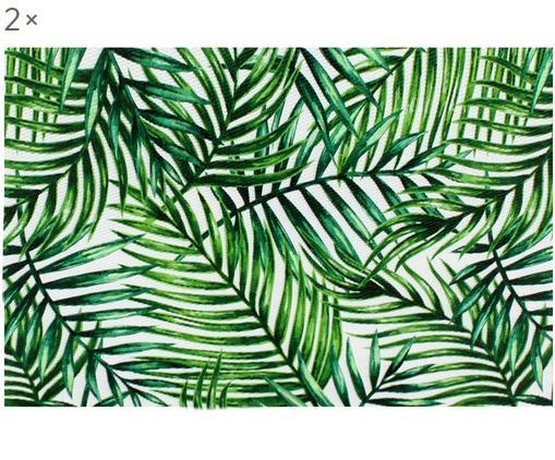 Tovaglietta americana Farn 2 pz, Materiale sintetico, Verde, bianco, Larg. 30 x Lung. 45 cm