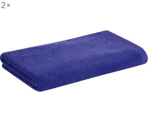 Asciugamano per ospiti Comfort, 2 pz., 100% cotone, qualità media 450g/m², Lilla, Larg. 50 x Lung. 100 cm