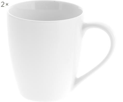 Tassen Delight, 2 Stück, Porzellan, Weiß, Ø 9 x H 10 cm