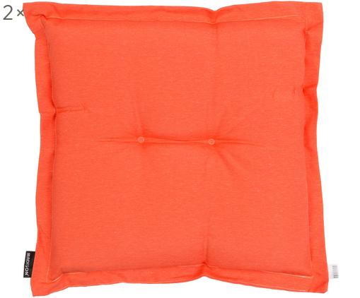 Cuscino sedia Panama 2 pz, Rivestimento: 50% cotone, 50% poliester, Arancione, Larg. 50 x Lung. 50 cm