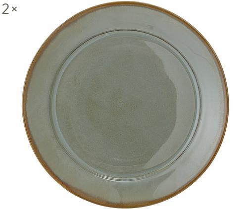 Piatti piani Pixie, 2 pz., Terracotta, Toni verdi, Ø 28 cm