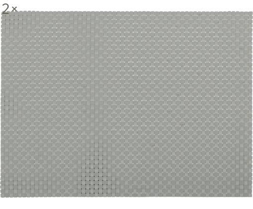Tovaglietta americana Confetti 2 pz, Materiale sintetico (PVC), Grigio chiaro, Lung. 40 x Larg. 30 cm