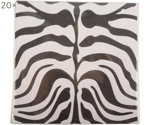 Tovaglioli di carta Nappy, 20 pz., Carta, Nero, bianco, Larg. 33 x Lung. 33 cm
