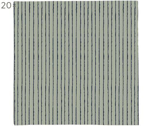 Tovaglioli di carta Copenhagen, 20 pz., Carta, Verde, blu scuro, Larg. 33 x Lung. 33 cm