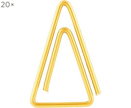 Graffette Triangle, 20 pezzi, Acciaio inossidabile ottonato, Ottone, Lung. 3 cm