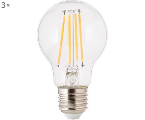 Dimmbare Leuchtmittel Cherub (E27/8.3W), 3 Stück, Leuchtmittelschirm: Glas, Leuchtmittelfassung: Aluminium, Transparent, Ø 8 x H 10 cm