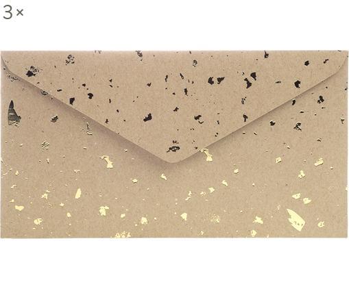 Sobres Carat, 3uds., Papel de estraza, Marrón, dorado, An 24 x Al 14 cm