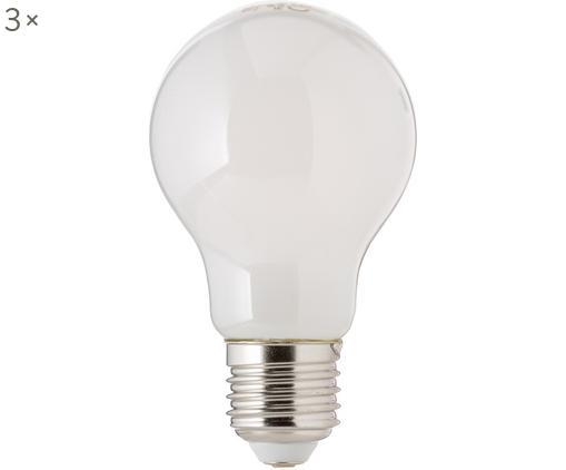 Bombillas LED regulables Bafa (E27/8,3W), 3uds., Ampolla: plástico, Casquillo: aluminio, Blanco, Ø 8 x Al 10 cm