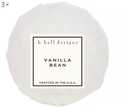 Badekugeln Vanilla Bean, 3 Stück (Vanille & Tonkabohne), Weiß, Ø 7 x H 7 cm