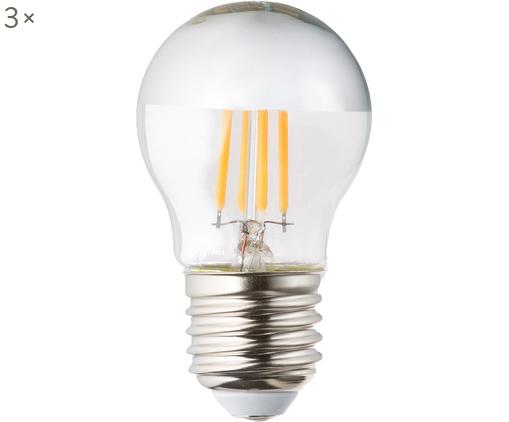 Lampadina dimmerabile Gamiel (E27 / 5Watt) 3 pz, Paralume: vetro cromato, Base lampadina: alluminio, Trasparente, cromo, Ø 5 x Alt. 8 cm