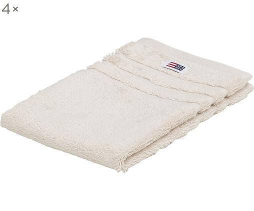 Asciugamano per ospiti Mona, 4 pz., Cotone, qualità pesante, 600 g/m², Beige chiaro, P 30 x L 50 cm