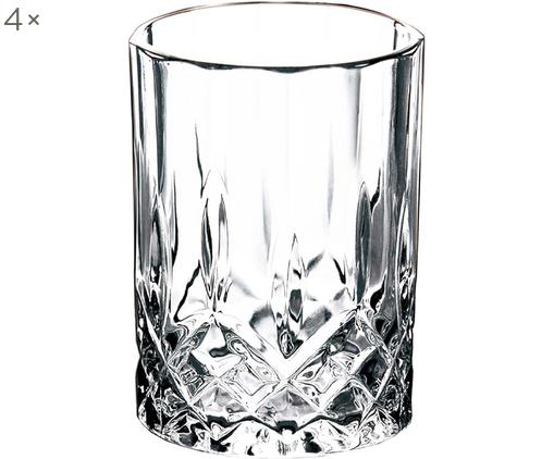 Shotgläser Harvey mit Reliefmuster, 4er-Set, Glas, Transparent, Ø 4 x H 6 cm