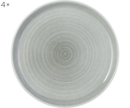 Piatti piani Pinch, 4 pz., Gres, Grigio, Ø 27 cm