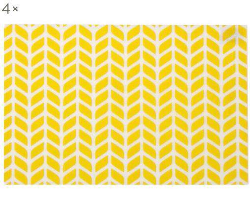 Tovaglietta americana Tahiti 4 pz, Materiale sintetico (PVC), Giallo, Larg. 30 x Lung. 45 cm