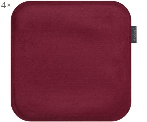 Cojines de asiento Avaro Square, 4uds., Burdeos, An 35 x L 35 cm