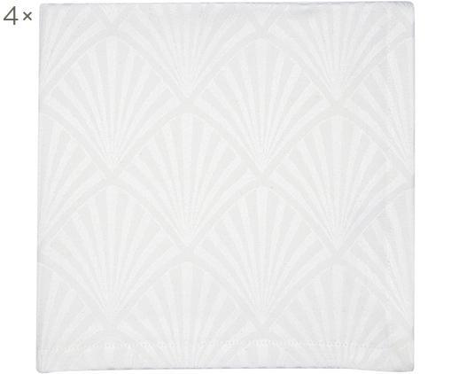 Tovaglietta americana in cotone Celine 4 pz, Bianco, Larg. 40 x Lung. 40 cm