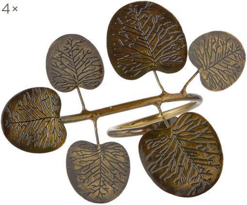 Portatovaglioli Eucalyptus Branch, 4 pz., Ottone, Ottone, Lung. 10 x Alt. 7 cm