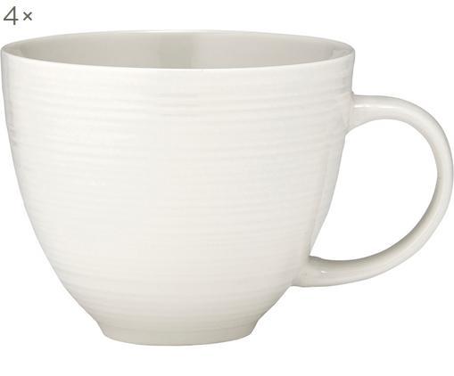Kaffeetassen Darby, 4 Stück, New Bone China, Weiß, Ø 11 x H 10 cm