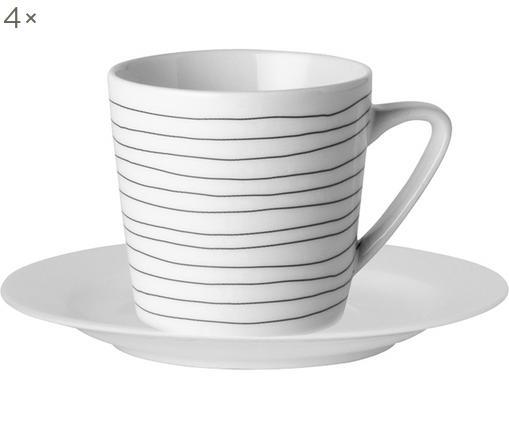 Set tazze Eris Loft, 8 pz., Bianco, nero