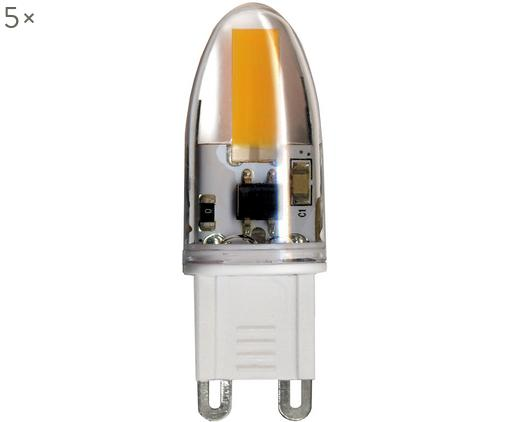 LED Leuchtmittel Halo (G9/1.6W), 5 Stück, Glas, Transparent, 2 x 5 cm