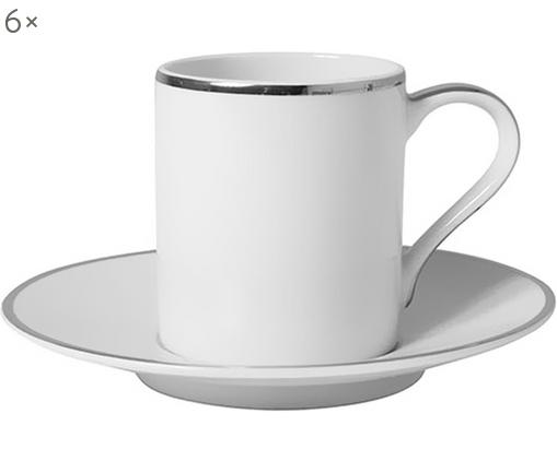 Set tazzine da caffè Lydia, 12 pz., Bianco