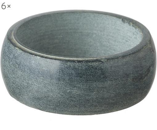 Portatovaglioli Soap Stone, 6 pz., Pietra ollare, Antracite, Ø 5 x A 2 cm