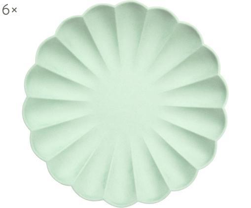 Assiettes en papier Simply Eco, 8 pièces, Vert menthe