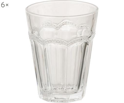 Set bicchieri per l'acqua Floyd, 6 pz., Vetro, Trasparente, Ø 9 x A 14 cm
