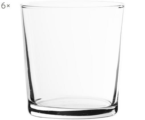 Klassische Wassergläser Simple, 6er-Set, Glas, Transparent, 370 ml