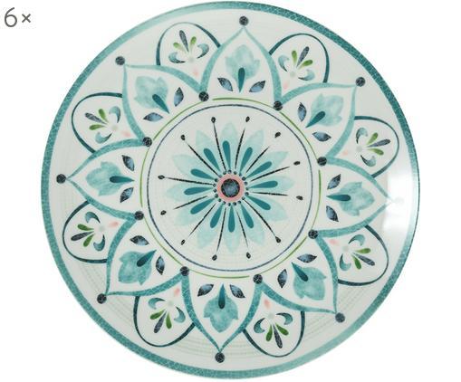 Speiseteller Pantelleria, 6 Stück, Porzellan, Mehrfarbig, Ø 27 cm