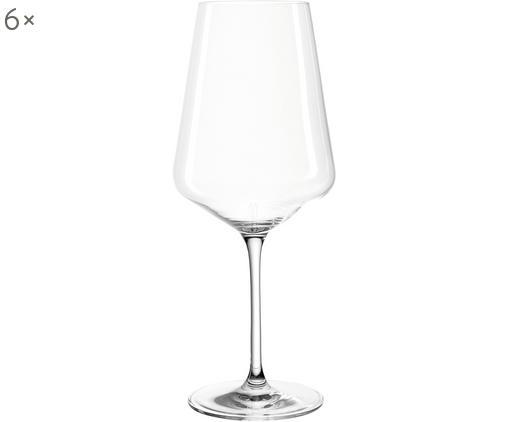 Verres à vin rouge modernes Puccini, 6pièces, Transparent
