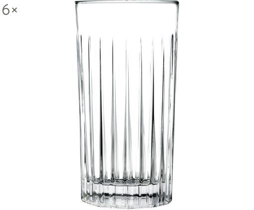 Bicchiere long drink in cristallo Timeless 6 pz, LUXION® cristallo, Trasparente, Ø 8 x Alt. 15 cm