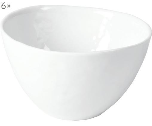 Bols à surface inégale Porcelino, 6pièces, Blanc
