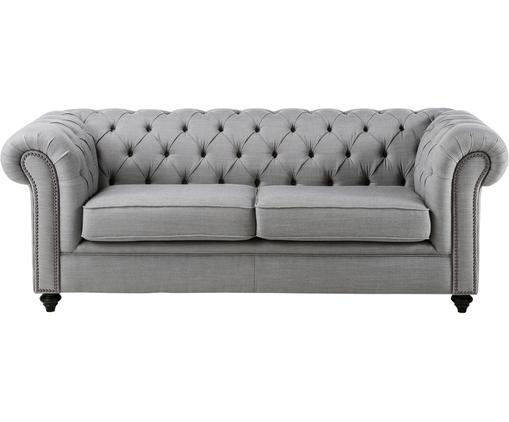 Chesterfield Sofa James (3-Sitzer), Hellgrau