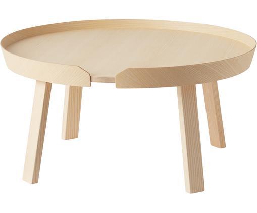 Tavolino da salotto di design in legno Around Large, Legno di frassino, verniciato, Legno di frassino, Ø 72 x Alt. 38 cm