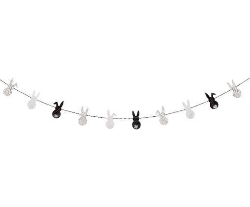 Girlanda Easter Bunnys, Papier, Czarny, biały, 200 x 10 cm