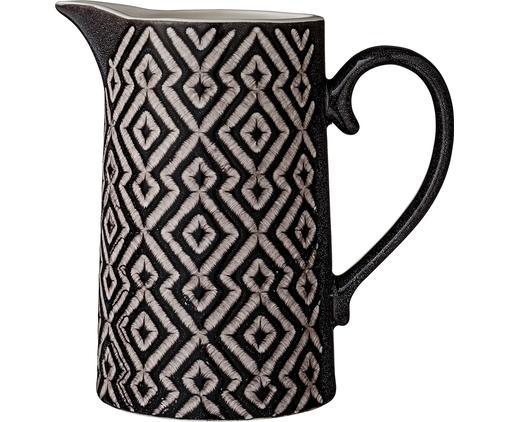 Kanne Abella, Keramik, Schwarz, Grau, 1.3 L