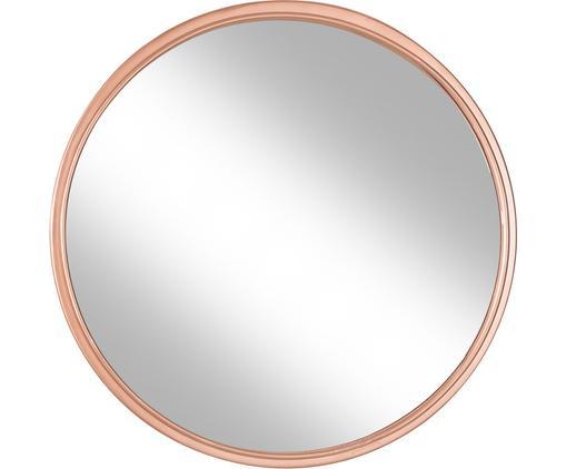Runder Wandspiegel Nova mit Kupferrahmen, Rahmen: Metall, Spiegelfläche: Spiegelglas, Kupferfarben, Ø 46 cm