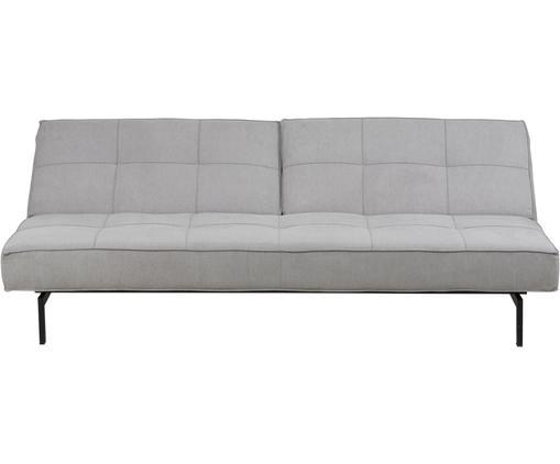 Sofa rozkładana Lucy, Tapicerka: jasny szary Nogi: czarny
