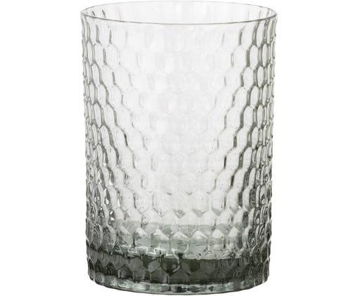 Tandenborstelbeker Grey Crystal, Glas, Grijs, licht transparant, Ø 8 x H 10 cm