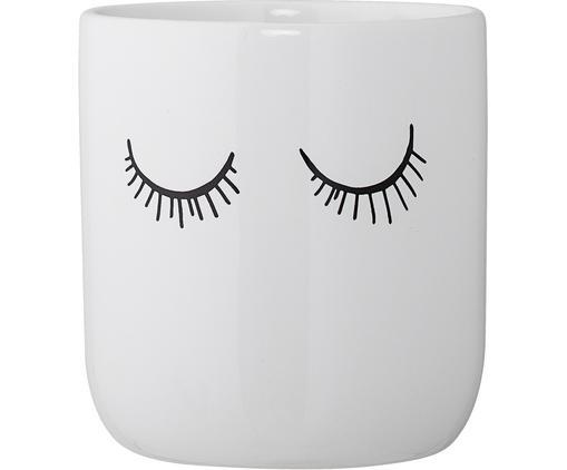Tazza Lashes, Ceramica, Bianco, nero, Ø 10 x Alt. 11 cm