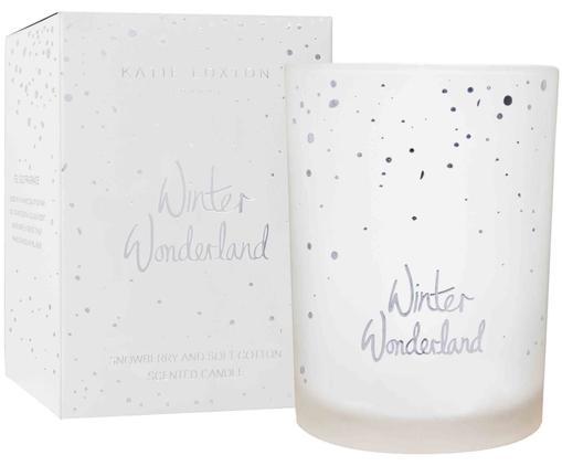 Candela profumata Winterwonderland (snowberry e cotton fresh), Contenitore: vetro, Bianco, Ø 9 x A 13 cm